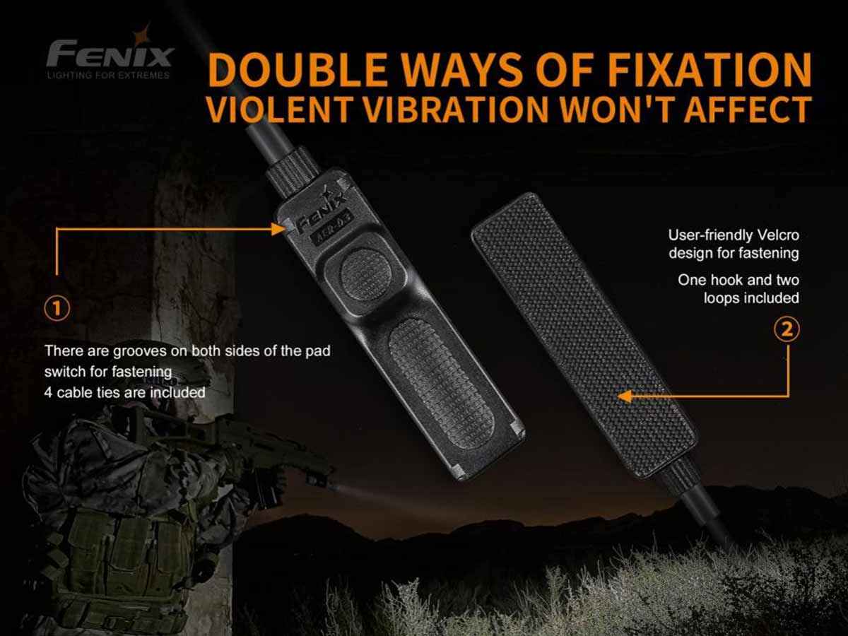 fenix aer-03-v2 pressure switch manufacturer slide about two options for attachment to weapon and what is included