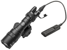 SureFire M322C-BK Scout Light LED Weapon Light with DS07 Switch Assembly - American Defense Manufacturing (ADM) Mount - Fits Picatinny Rail - 500 Lumens - Includes 2 x CR123A