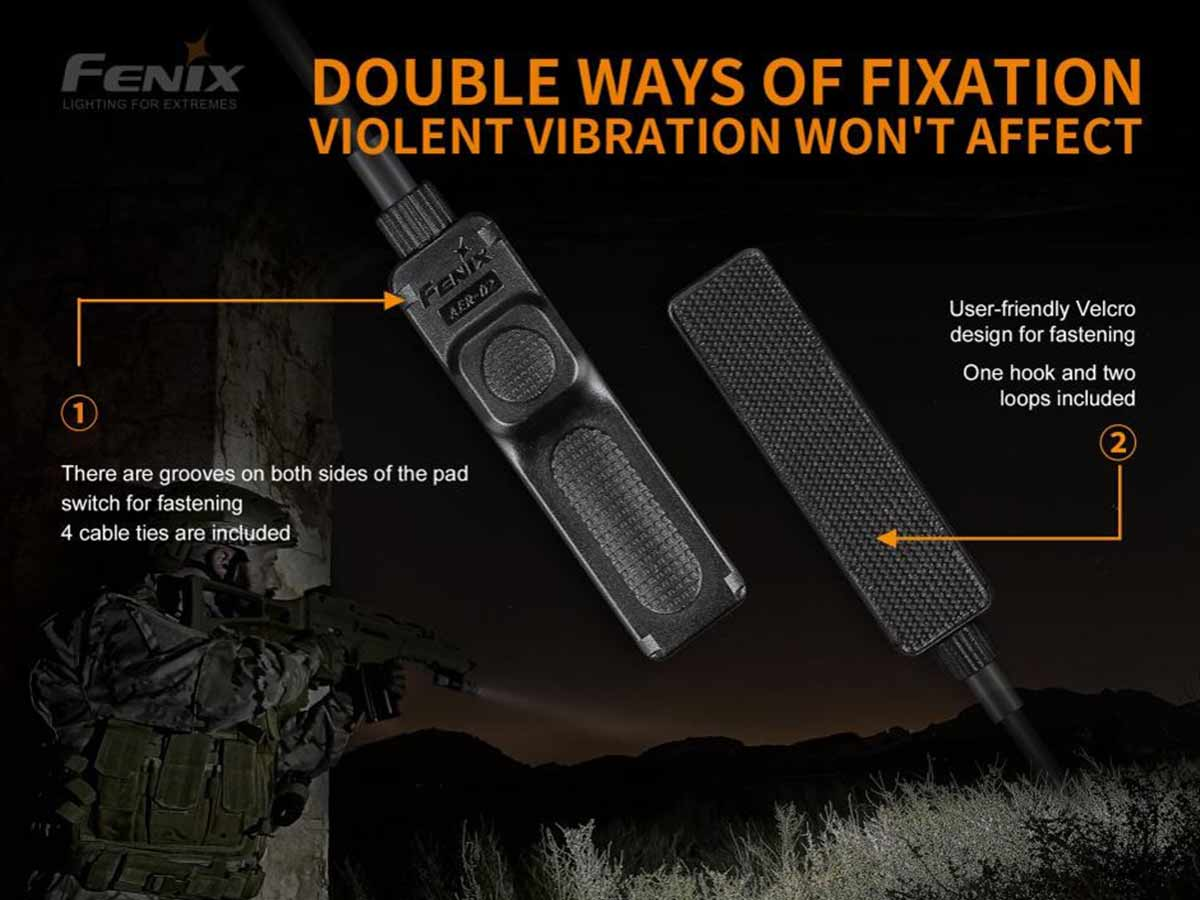 fenix aer-02-v2 pressure switch manufacturer slide about two options for attachment to weapon and what is included