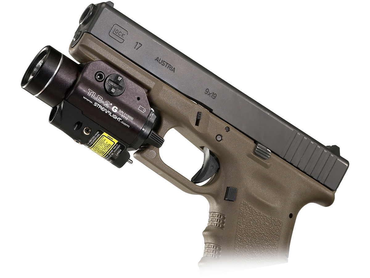 weapon laser light attached to a glock