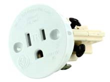 Sillites SCR Tamper-Resistant Self-Contained Receptacle Outlet, 15 Amp 120 Volt, White (SCRW), Brown (SCRBR), or Black (SCRMB)