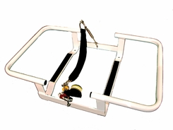 Revere Aluminum Cradle for Offshore Commander 4-6 Person Liferaft Container Pack - White Powder Coated Aluminum Finish with Hydrostatic Release (45-OO4CRAD)
