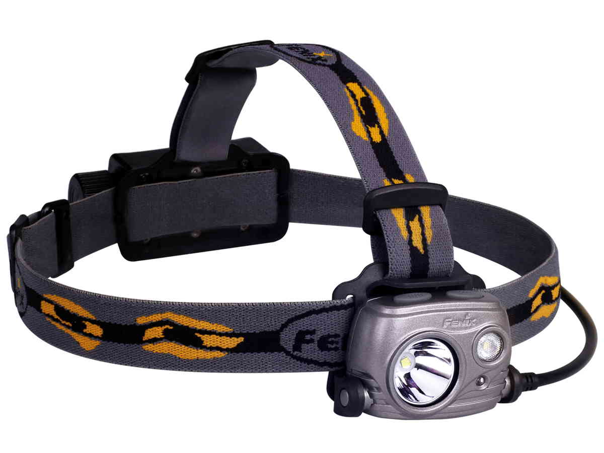 Fenix HP25R headlamp left side angle