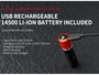 USB-Rechargeable 14500 Battery Included