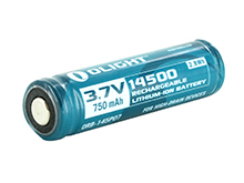 Olight ORB-145P07 14500 750mAh 3.7V Protected Lithium Ion (Li-ion) Button Top Battery - Retail Card