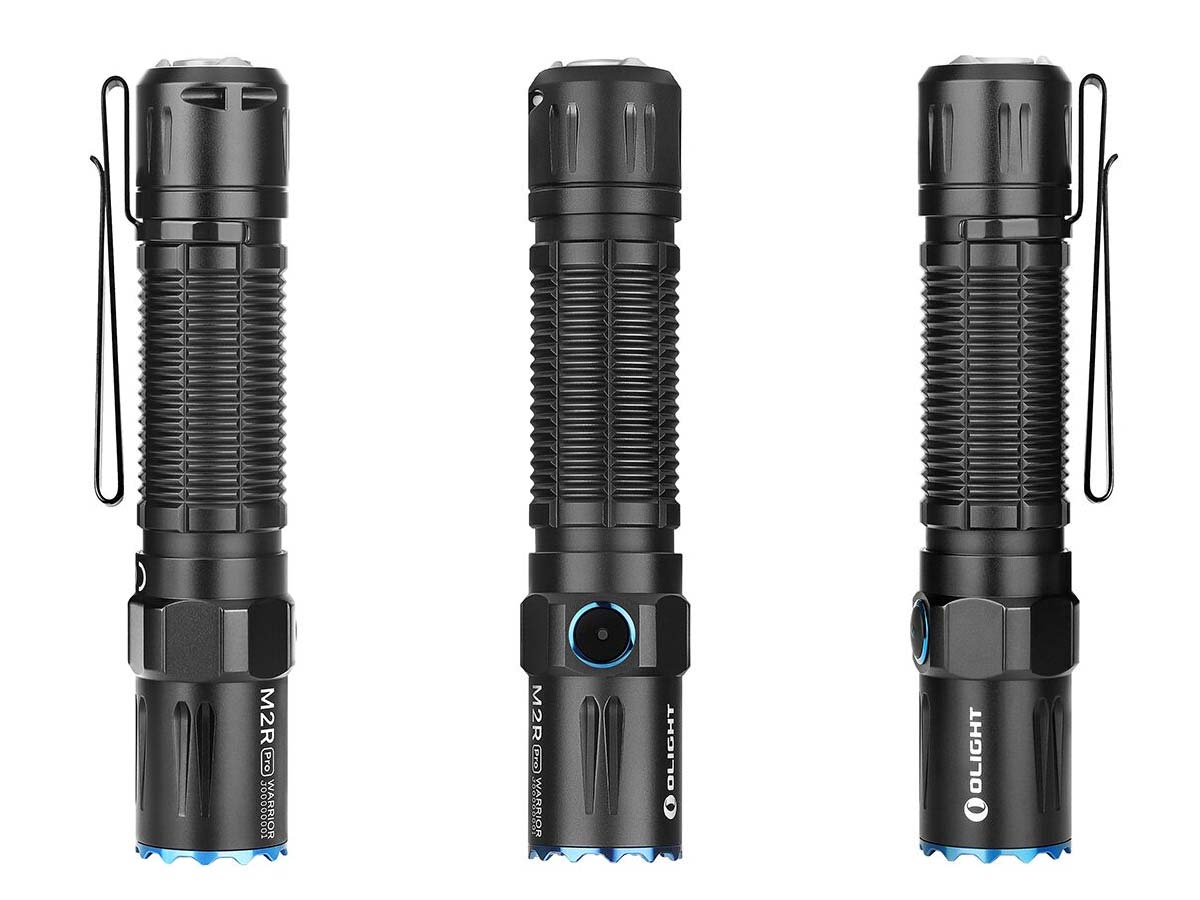 Olight M2R Pro Flashlight Warrior M Series Black Edition Vertical Shot