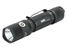 Powertac M5 Rechargeable Tactical LED Flashlight - CREE XM-L2 U3 - 1300 Lumens - Uses 1 x 18650 (included) or 2 x CR123A