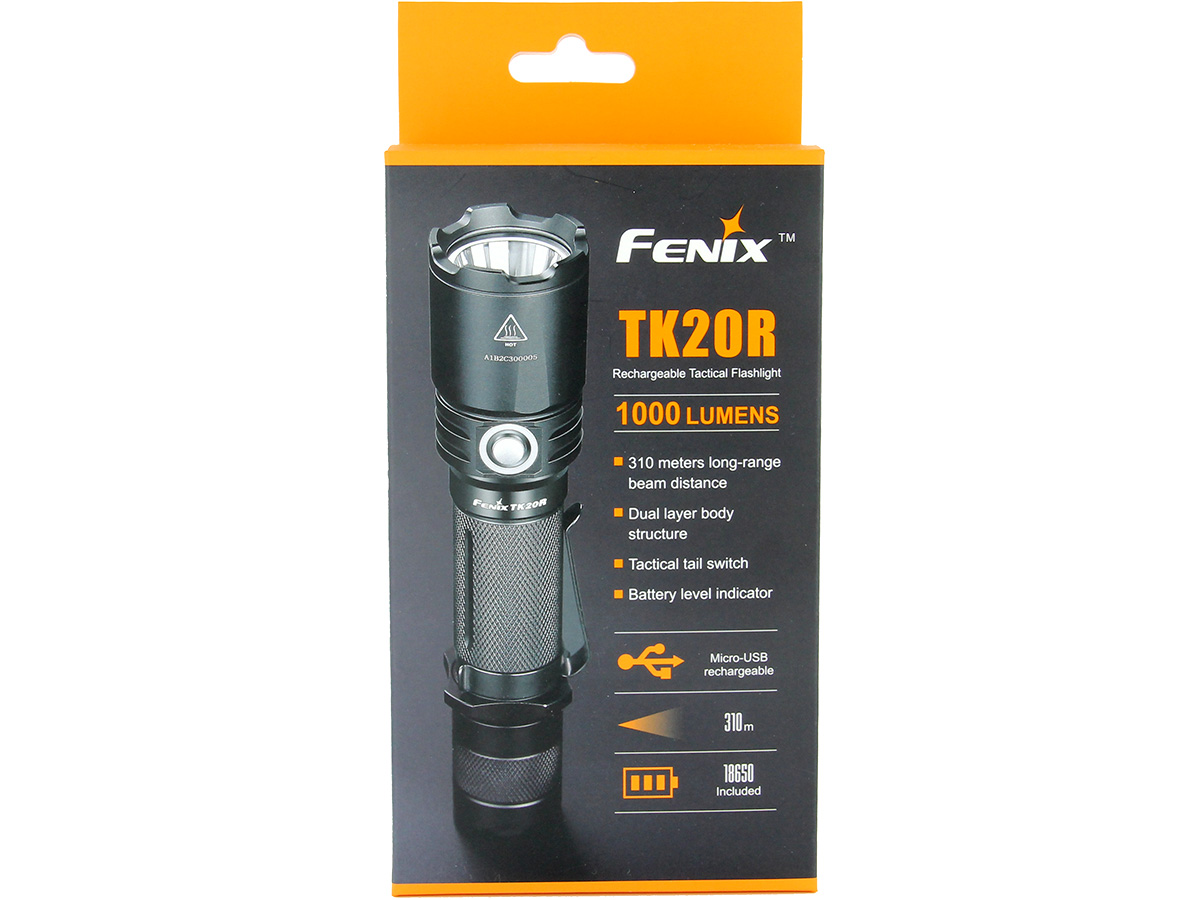 Packaging for Fenix TK20R flashlight