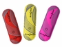 Red, Neon-Yellow, Pink Taglits on white background