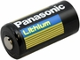 Panasonic CR123A battery side angle