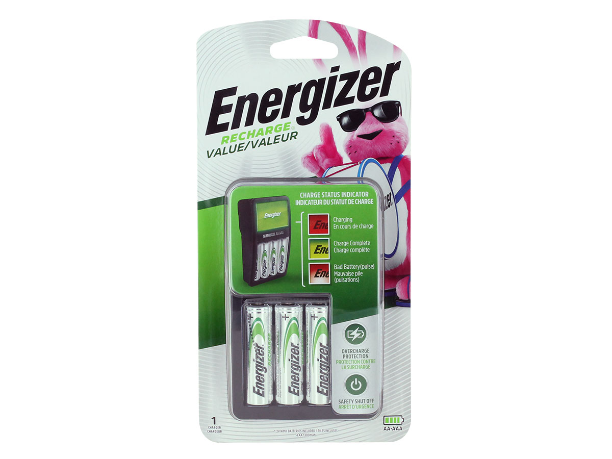 Energizer Value Charger front view in blister packaging