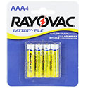 Rayovac AAA (4PK) 550mAh 1.5V Zinc Chloride (ZnCl) Button Top Battery - 4 Pack Retail Card (3AAA-4F)
