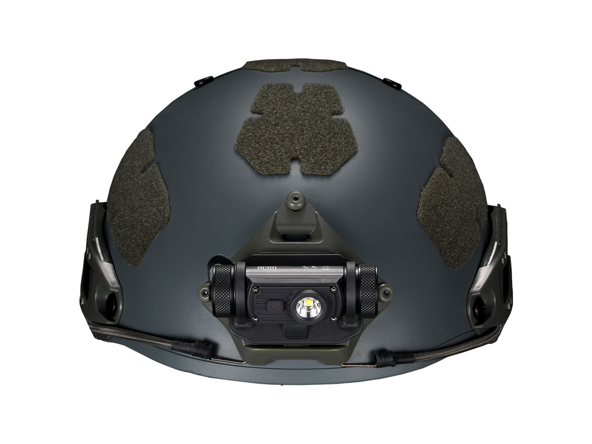 HC60M MOUNTED ON HELMET