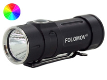 Folomov EDC-C2 LED Flashlight - Nichia E21A - 400 Lumens - Includes 1 x 3.7V 14300