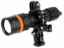 Fenix SD11 flashlight on mount right side angle