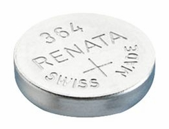 Renata 364 MP 20mAh 1.55V Silver Oxide Coin Cell Battery - 1 Piece Tear Strip, Sold Individually