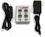 iPower Li-ion battery charger with adapters front view