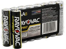 Rayovac Ultra Pro AL-AAA 1.5V Alkaline Button Top Batteries - 8 Pack Shrink Wrap (ALAAA-8J)