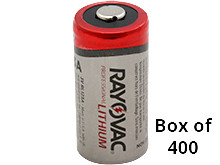 Rayovac CR123A (400PK) 1400mAh 3.0V Lithium Primary (LiMNO2) Button Top Photo Batteries - Box of 400