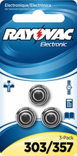Rayovac 303/357-3ZMG Silver Watch/Electronic Battery- 3 Pack