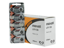 Maxell LR1130 1.5V Alkaline Coin Cell Battery - Hologram Packaging - 1 Piece Tear Strip, Sold Individually