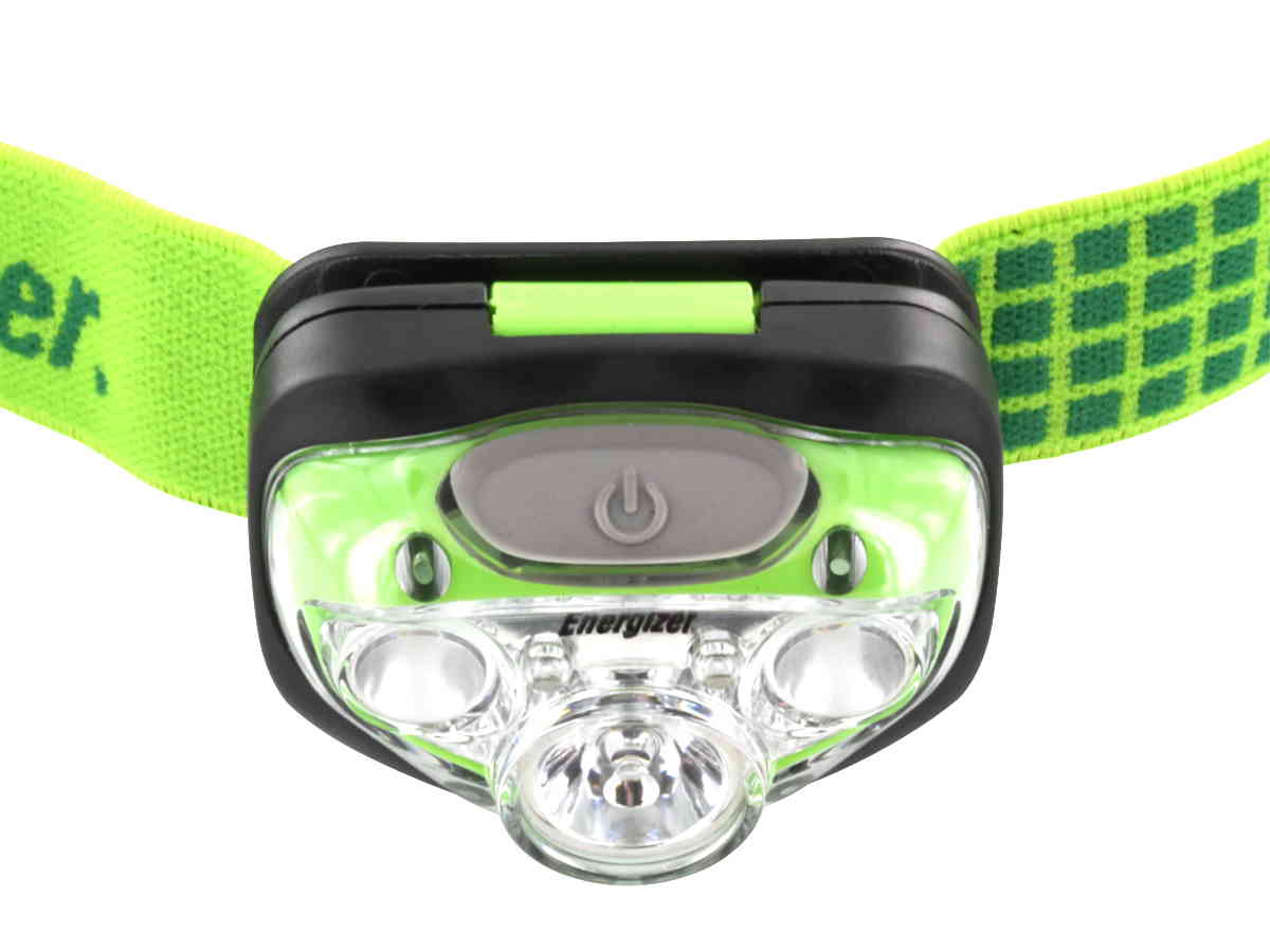 Top down view of Energizer Vision HD+ Headlamp