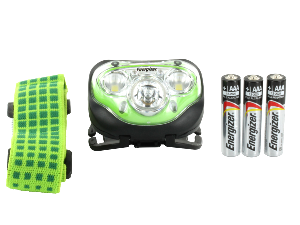 Energizer Vision HD+ Headlamp with accessories