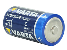 Varta Long Life Power C 1.5V Alkaline Button Top Batteries  - Retail Packaging, Sold Individually