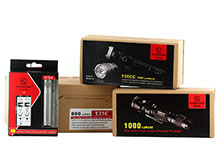 Sunwayman LED Flashlight Bundle - Includes 1 x G20C, 1 x R15A-R5-GRY, 1 x T20CC-BLACK and 1 x T25C