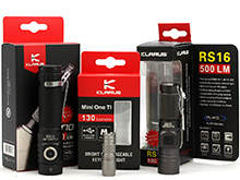 Klarus LED Flashlight Holiday Bundle - Includes 1 x RS16-XP-L-HI, 1 x MINI-ONE-TI and 1 x ST10-XM-L2