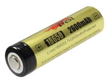 Efest 3405 18650 2600mAh 3.7V Protected Lithium Ion (Li-ion) Button Top Battery - Boxed