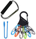 Hardware - Carabiner Clips, Gear Ties & Rope Tighteners