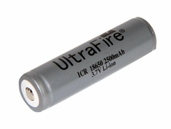 Ultrafire 18650 2500mAh 3.7V Protected Lithium Ion (Li-ion) Button Top Battery - Bulk (ULTRAFIRE-18650-2500-PTD)
