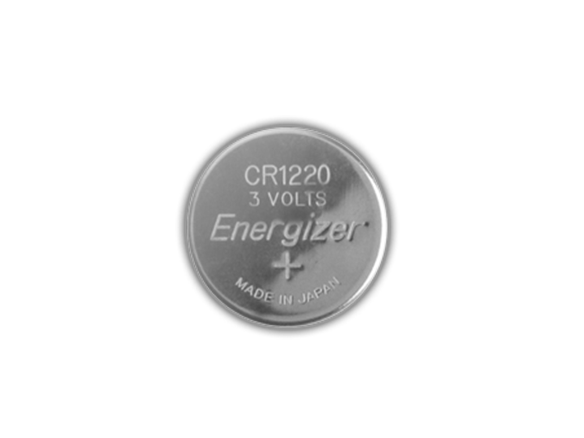 Energizer ECR1220 coin cell front view