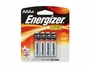Energizer E92 AAA batteries in 4 piece retail card