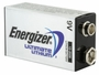 Energizer Ultimate L522 9V battery right side angle