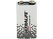 UltraLife Long-Life U9VL 9V 1200mAh Lithium (LiMnO2) Battery - Snap Connectors - 1 Piece Bulk - Available With or Without Cap