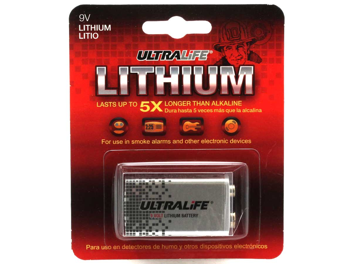 UltraLife 9V retail card