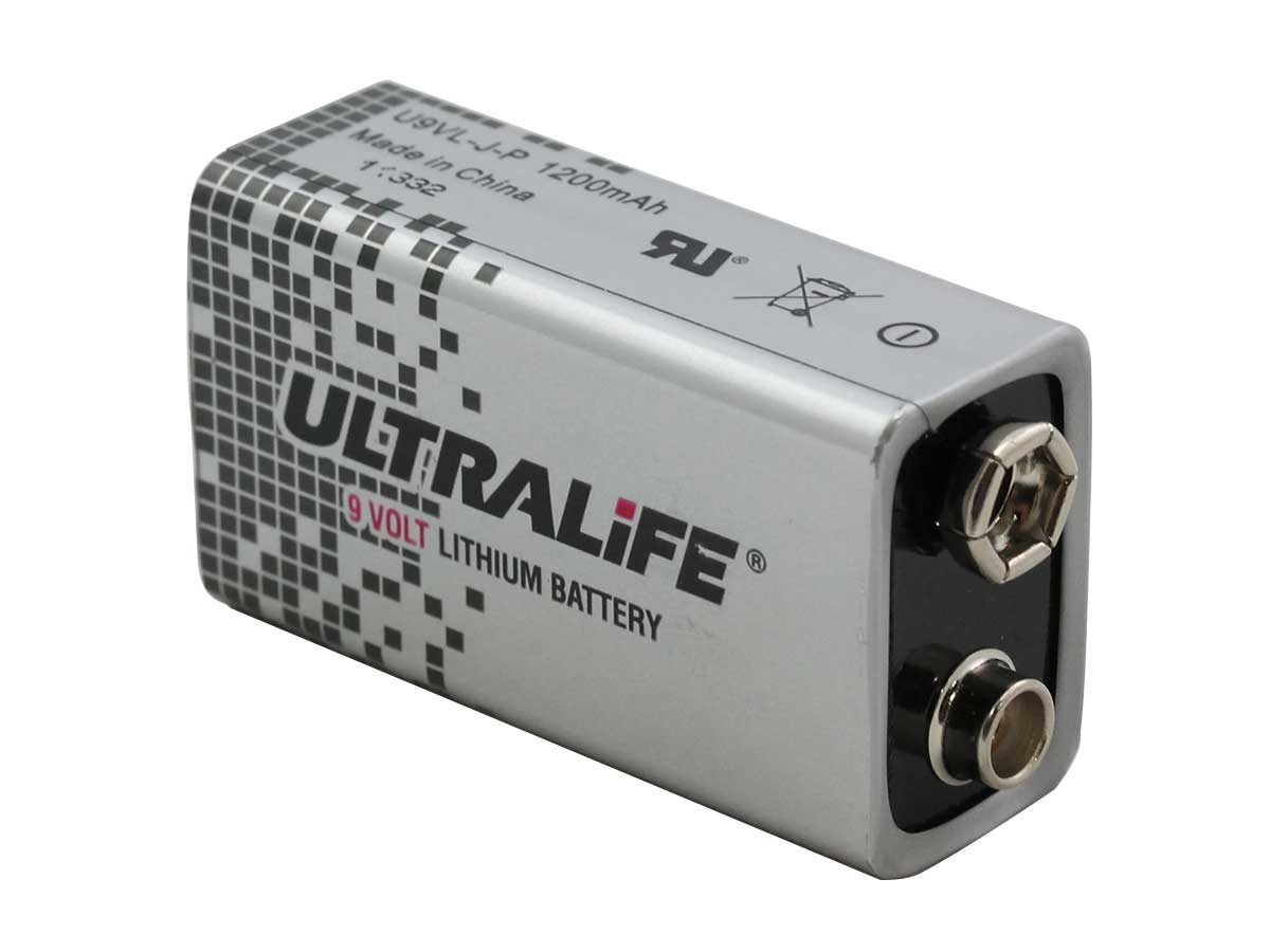 Ultralife Long-Life 9V Lithium Cells angle