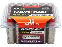 Rayovac Fusion 815-30PP AA 1.5V Alkaline Button Top Batteries - 30 Pack