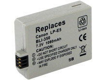 Empire BLI-350 1080mAh 7.2V Replacement Lithium Ion (Li-Ion) Digital Camera Battery Pack for the Canon LP-E5