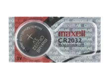 Maxell CR2032 220mAh 3V Lithium Primary (LiMNO2) Coin Cell Battery - Hologram Packaging - 1 Piece Tear Strip, Sold Individually
