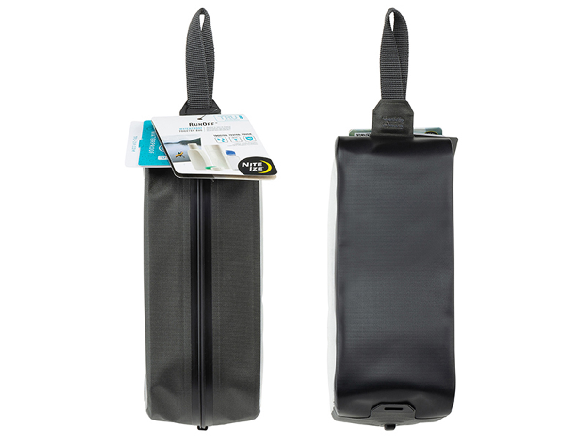nite ize waterproof toiletry bag retail packaging front and back