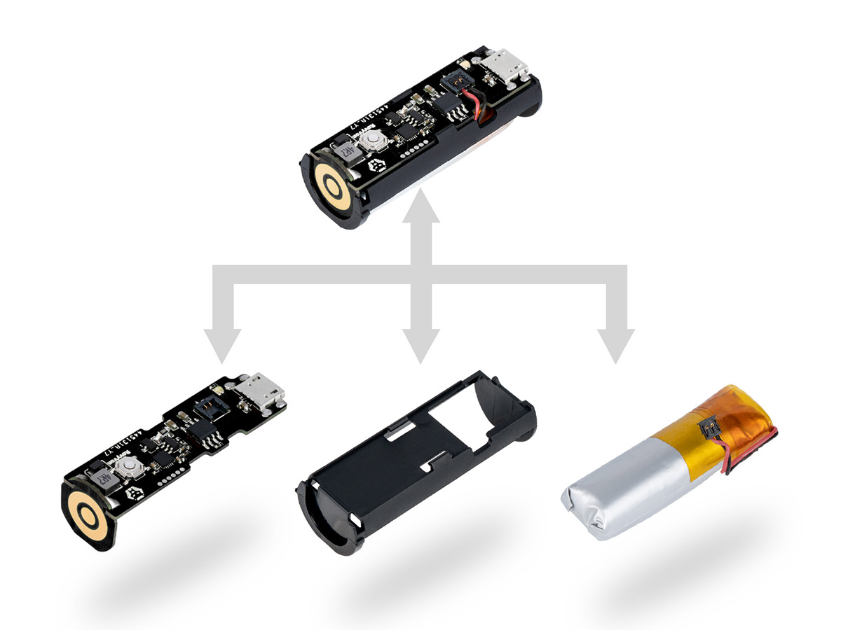 rovyvon ra20 replacement battery pack module, as exploded parts diagram