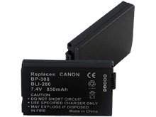 Empire BLI-280 850mAh 7.4V Replacement Lithium Ion (Li-Ion) Digital Camera Battery Pack for the Canon BP-308