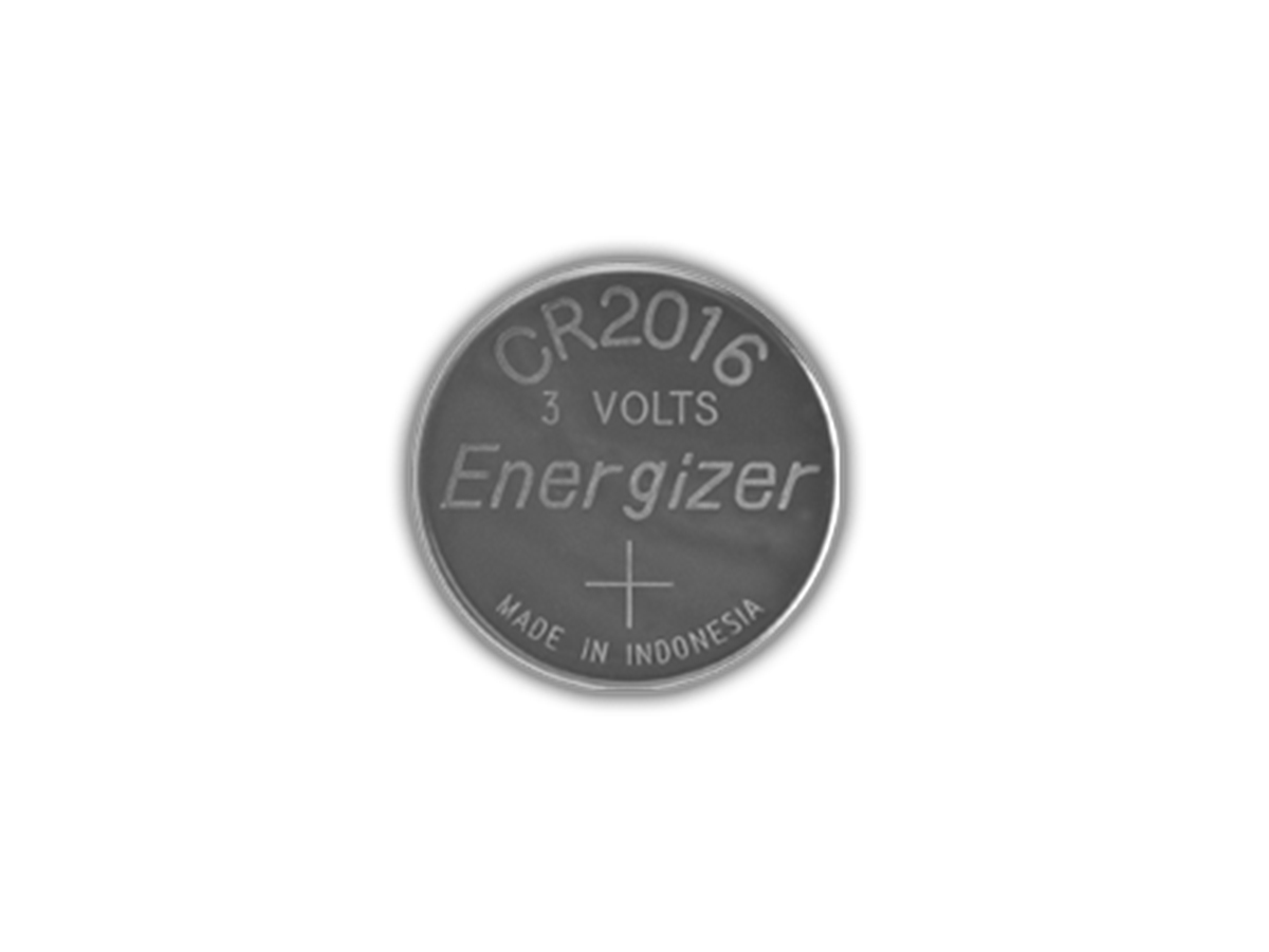 Energizer ECR2016 coin cell front view