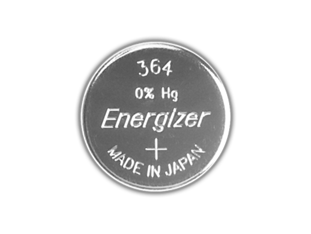 Front view of Energizer SR621SW coin cells
