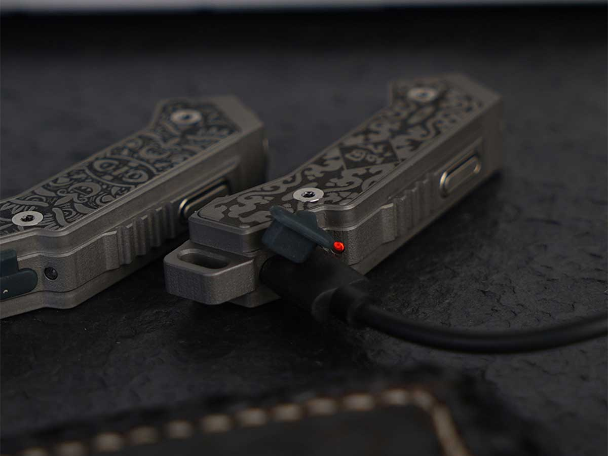Close-up of Micro USB Charging