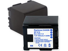 Empire BLI-338-1.9 1600mAh 7.4V Replacement Lithium Ion (Li-Ion) Digital Camera Battery Pack for the Canon BP-819