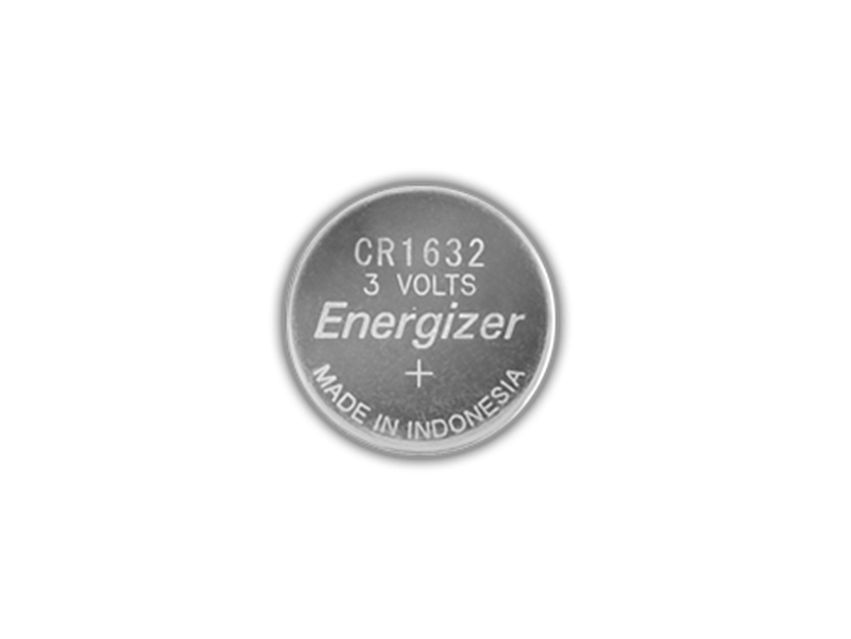 Energizer ECR1632 coin cell front view